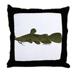 Flathead Catfish Throw Pillow