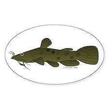 Flathead Catfish Sticker (Oval)