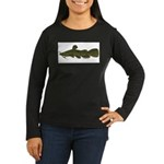 Flathead Catfish Women's Long Sleeve Dark T-Shirt