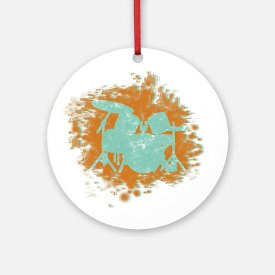 Splatter Drumset Ornament (Round)