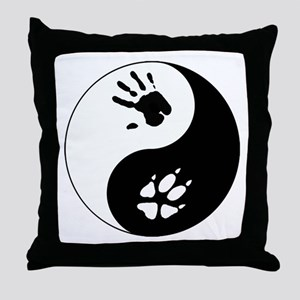 Fox Therian Ying Yang Throw Pillow