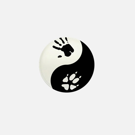 Fox Therian Ying Yang Mini Button