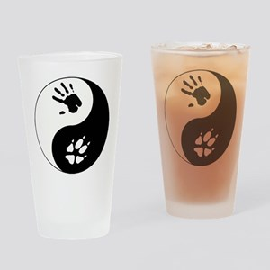 Fox Therian Ying Yang Drinking Glass