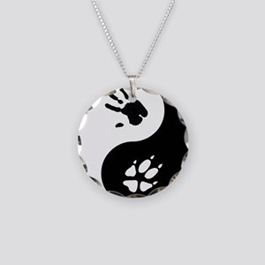 Fox Therian Ying Yang Necklace Circle Charm