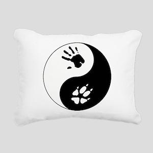 Fox Therian Ying Yang Rectangular Canvas Pillow