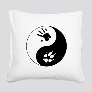 Fox Therian Ying Yang Square Canvas Pillow