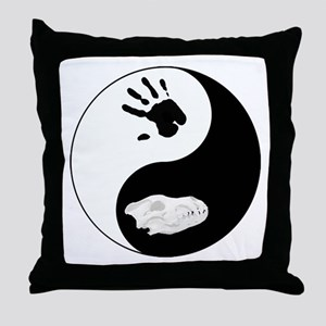 Dire Wolf Therian Ying Yang Throw Pillow