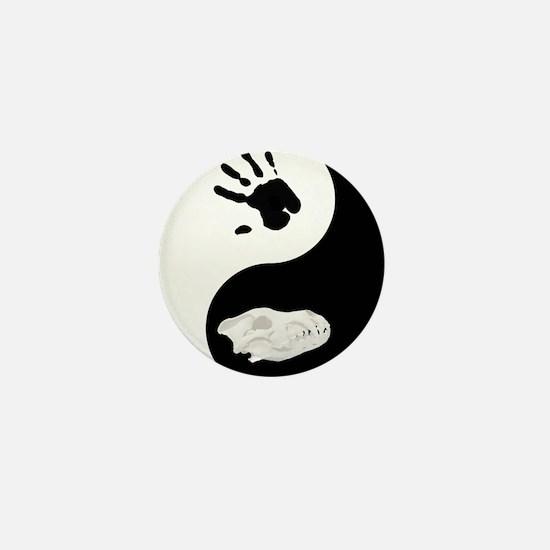 Dire Wolf Therian Ying Yang Mini Button