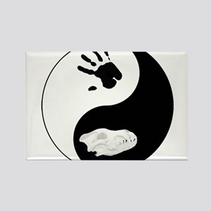 Dire Wolf Therian Ying Yang Rectangle Magnet