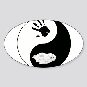 Dire Wolf Therian Ying Yang Sticker (Oval)