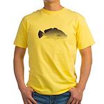 Freshwater Drum fish (aka Sheephead) Yellow T-Shir