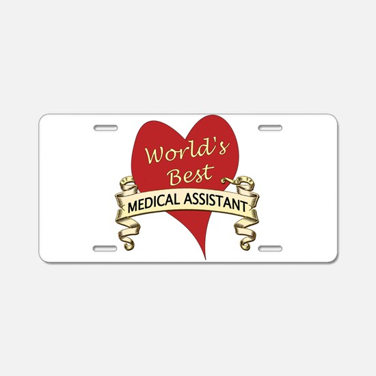 Cute Medical assistant Aluminum License Plate