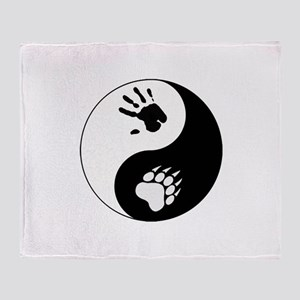 Bear Therian Ying Yang Throw Blanket