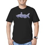 Channel Catfish Men's Fitted T-Shirt (dark)