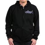 Channel Catfish Zip Hoodie (dark)