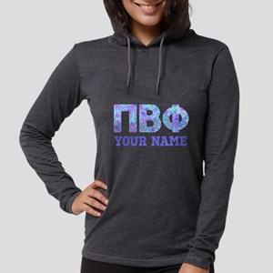 Pi Beta Phi Floral Womens Hooded Shirt