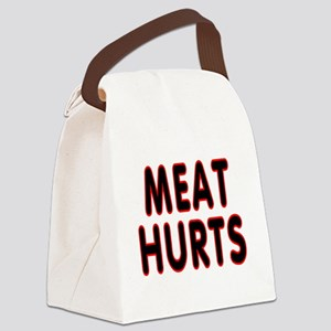 Meat hurts - Canvas Lunch Bag