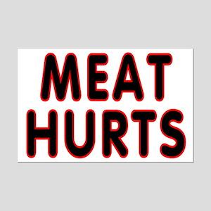 Meat hurts - Mini Poster Print