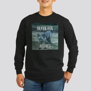 Silver Fox Retired Long Sleeve Dark T-Shirt