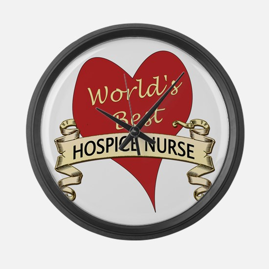 Hospice Large Wall Clock