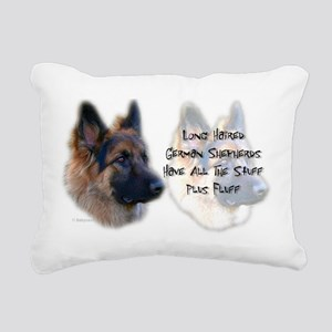 Long Haired GSD Rectangular Canvas Pillow