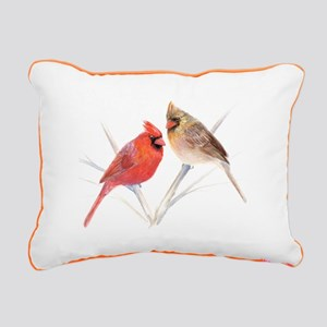 Northern Cardinal Mates Rectangular Canvas Pillow