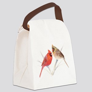 Northern Cardinal Mates Canvas Lunch Bag