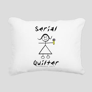 Serial Quilter Rectangular Canvas Pillow