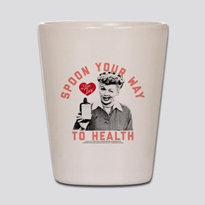 Lucy Spoon To Health Shot Glass