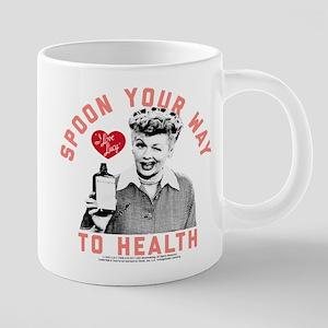 Lucy Spoon To Health 20 oz Ceramic Mega Mug