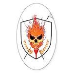 Skull Sticker (Oval)