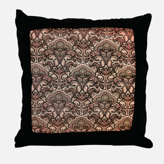 Haunted Victorian Wallpaper Throw Pillow