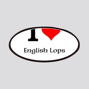I love English Lops Patches
