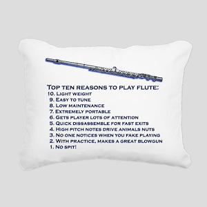 Flute Top 10 Rectangular Canvas Pillow