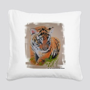 Tiger Cub - pastel drawing artwork Square Canvas P