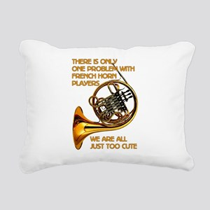 French Horn Cutie Rectangular Canvas Pillow