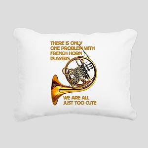 French Horn Cutie Rectangular Canvas Pillow
