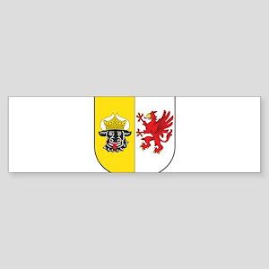 Mecklenburg-Vorpommern Wappen Sticker (Bumper)