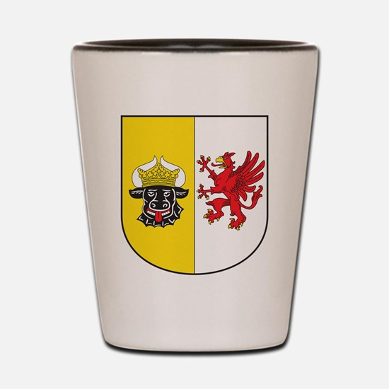 Mecklenburg-Vorpommern Wappen Shot Glass