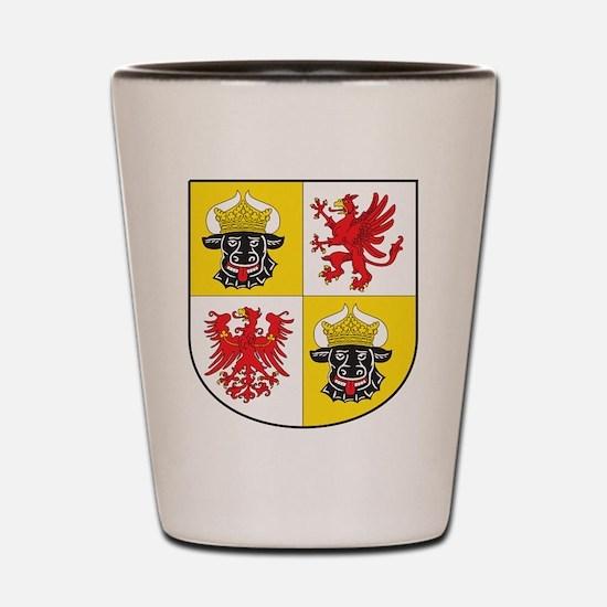 Mecklenburg-Vorpommern Landeswappen Shot Glass