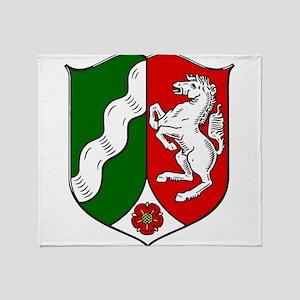 Nordrhein-Westfalen Wappen Throw Blanket