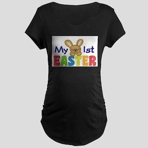 My 1st Easter Maternity Dark T-Shirt