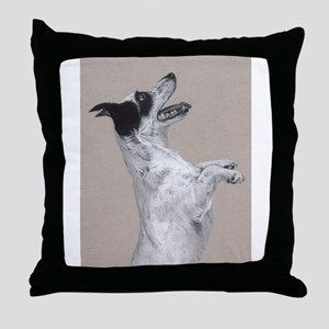 jack russel pastel painting Throw Pillow
