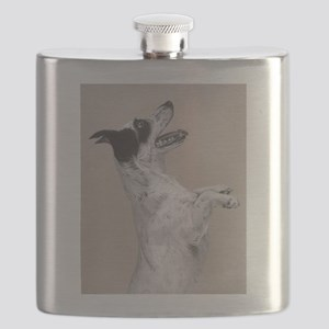 jack russel pastel painting Flask