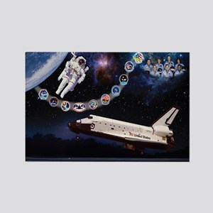 Challenger Commemorative Rectangle Magnet (10 pack
