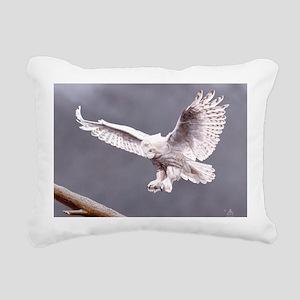 Snow Wings; Rectangular Canvas Pillow