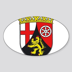 Rheinland-Pfalz Sticker (Oval)
