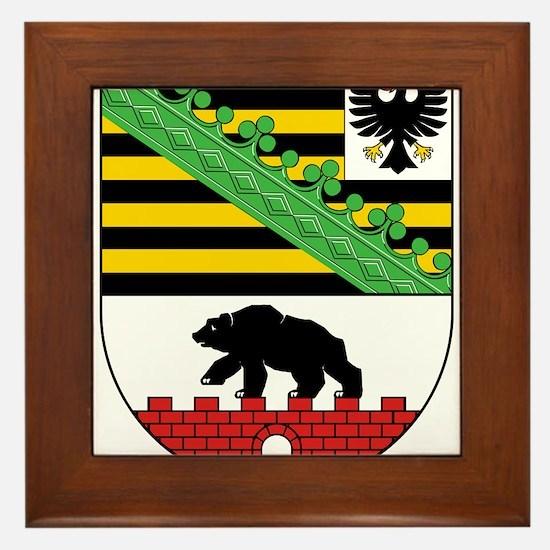 Sachsen-Anhalt Wappen Framed Tile