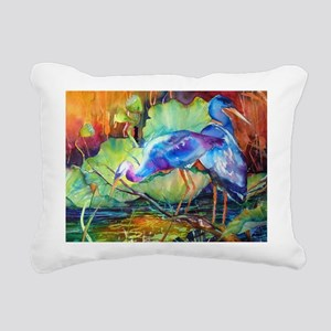 Great Blue Heron Rectangular Canvas Pillow