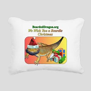 A Beardie Christmas Rectangular Canvas Pillow